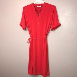 Calvin Klein size Medium fiery red dress